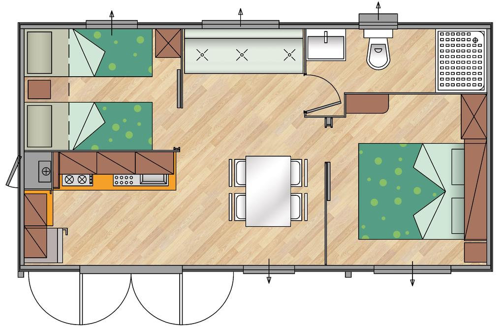 Planimetria Mobile Home Superior